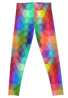 'Abstract hipsters pattern with colored rhombus' Leggings by EkaterinaP Hipster Pattern, Gothic Leggings, Geometric Background, Mosaic, Room Decor, Trends, Abstract, Trending Outfits, Color