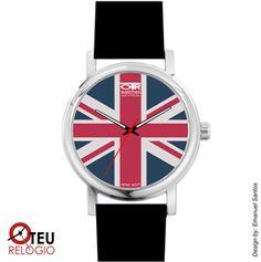 Mostrar detalhes para Relógio de pulso OTR BANDEIRA INGLATERRA LOC 002