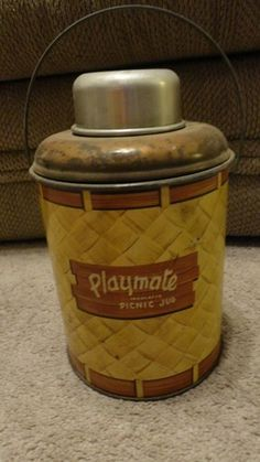 Vintage 1950s Playmate Insulated Picnic Jug
