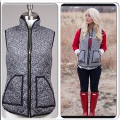 ⭐️M or L AVAILABLE⭐️ NWT Tweed Herringbone Vest NWT Tweed Herringbone Puffer Vest. This medium-weight quilted stitch vest features a trendy black and white herringbone print. 2 front pockets and brassy gold zipper down front. 100% cotton, fully lined. Available in Medium (6-8), Large (10-12)No Trades and No Paypal⭐️PLEASE DO NOT PURCHASE THIS LISTING, COMMENT WITH SIZE AND I WILL CREATE A SEPARATE LISTING TO BUY⭐️Price is firm, not eligible for bundle discount. Discounted shipping available…