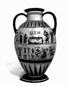 An Esrolian painted amphora | Glorantha