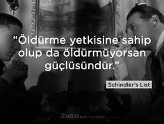 """""""Öldürme yetkisine sahip olup da öldürmüyorsan güçlüsündür."""" #schindlers #list #schindlerin #listesi  #replikleri #sözleri #film #dizi"""
