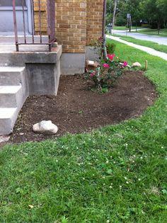 Beginning of south side flower bed