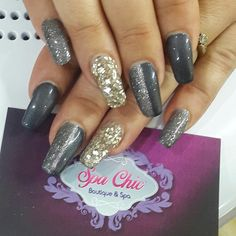 #SpaChic #acrylics #gelpolish #ice #blurypic
