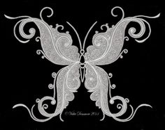 Butterfly Pattern | ... Things Parchment Craft: Paisley Lace Butterfly Collection - #1 thru #5
