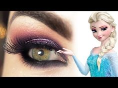 ▶ Tutorial - makeup Elsa de Frozen - YouTube its in a different language but it really shows in detail how to put on the makeup