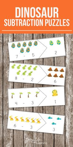My daughter loves these printable math puzzles. Keep up your math skills with these fun dinosaur subtraction puzzles. A fun way for dino lovers to improve their math skills and have fun at the same time.