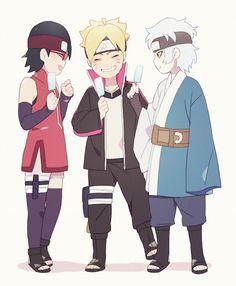 Sarada, Boruto and Mitsuki
