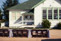 Southern wedding - purple linens