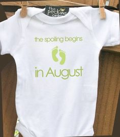 pregnancy announcement onesie  perfect for first by zoeysattic, $15.00