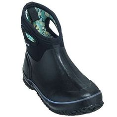 Bogs womens black classic short waterproof boot 71009 in Women Work Boots
