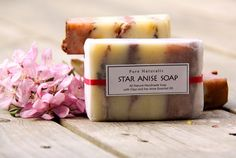 Star Anise/Licorice Natural Vegan pink brown white layered Soap by Pure Naturalis