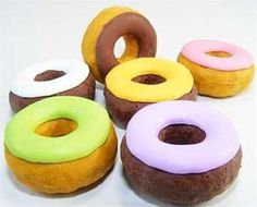 These erasers from the Donut Eraser Collection are the tastiest erasers you'll find! Included in this collection are the donut flavors of: Iced Chocolate, Berry Blast, Chocolate Glazed, Strawberry Crème, Banana Bonanza, and Apple Tart. Get yours and start your own collection! -Note: Erasers are NOT edible.