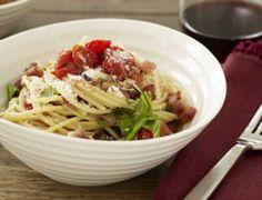 Cherry Tomato Spaghetti all'Amatriciana.