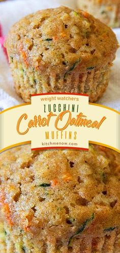 Weight Watchers Breakfast Bars Oatmeal Muffins Ideas For 2019 Ww Desserts, Healthy Desserts, Dessert Recipes, Healthy Foods, Healthy Life, Dinner Recipes, Healthy Recipes, Weight Watcher Desserts, Weight Watchers Zucchini
