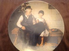 """Vintage Norman Rockwell Collector's Plate """"""""The Lighthouse Keeper's Daughter"""""""" measures 8.5"""""""" diameter ECO005"""