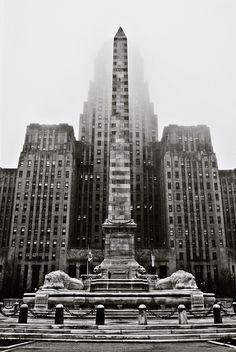 Buffalo NY  Foggy City Hall