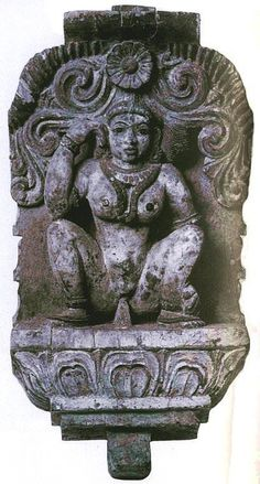 Yoni tantric figure of Kali in menstrual flux