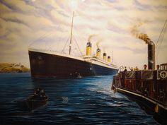 Stuart Williamson, The Last Goodbye : une oeuvre superbe sur le Titanic ! Belfast, Titanic, The Last Goodbye, 14 Avril, Les Oeuvres, Tours, Painting, Ship, Ireland