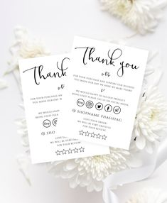 Thank You Card, Customer Thanks for Order Editable Template, Etsy Seller Small Business Insert Package Card. Small Business Cards, Business Thank You Cards, Business Stickers, Business Card Design, Thank You Customers, Thank You For Order, Customer Thank You Note, Thank U Cards, Thank You Card Design