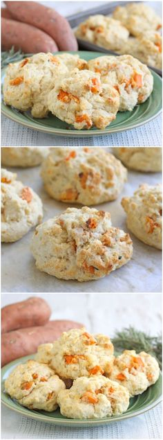 Sweet Potato Rosemary Biscuits Recipe on http://twopeasandtheirpod.com Love these fall biscuits! Easy to make too!