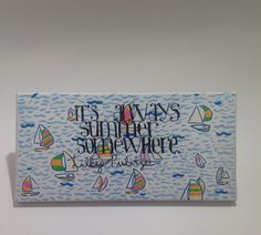 "Lilly Pulitzer Inspired Hand-Painted You Gotta Regatta Acrylic Painting With Quote 14""x7"" available on my Etsy shop"