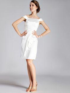 Classic Boatneck Little White Dress - My wedding ideas