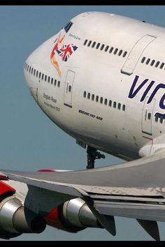 Virgin 747 - 400  English Rose - my favourite aircraft model