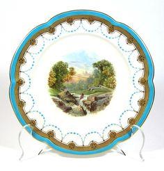 Minton River Scene Plate