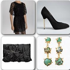 Ideas para un look con el que vas a lucir super elegante y muy apropiado para brillar esta navidad. 1-vestido negro con encajes  2-zapatos de #stuartweiztman  3-joyas con esmeralda de @paulamendozajewelry  4-clutch negro. #moda #fashion #outfitideas #christmaslook #swagger #dressjoyas #tipsdecamila #lace #vestido #encaje #Padgram