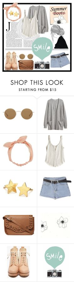 """Smile, the worst is yet to come- we'll be lucky if we ever see the sun"" by drinkdionysus ❤ liked on Polyvore featuring Oliver Peoples, H&M, Arizona, Renzo and Kai, Pernille Corydon, Dorothy Perkins, Post-It, Retrò, Seventy Tree and summerbooties"