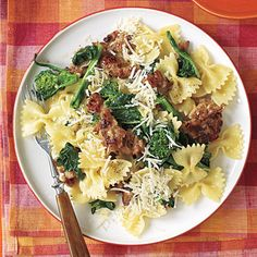 Pasta with Sausage and Broccoli Rabe #recipe