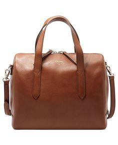 Fossil Handbag, Sydney Leather Satchel - Fossil Handbags - Handbags & Accessories - Macy's