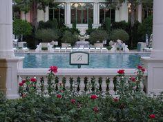 Bellagio pool, Las Vegas.