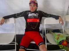 BMC Racing Team's Yannick Eijssen and his Most Aggressive Rider jersey