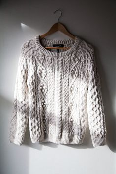 the oversized Aran Fisherman Knit sweater in 100% cotton has always been my favorite stand-by!