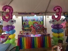 Rainbow Dash Birthday, My Little Pony Birthday Party, Unicorn Birthday Parties, Unicorn Party, Girl Birthday, Cumple My Little Pony, Unicorn Balloon, Little Poney, Birthday Decorations