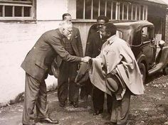 """Historical Photo:- Emperor Haile Selassie of Ethiopia and """"Leon Trotsky"""" of Russia--> in Mexico. ( before 1940 ) ( 2nd photo shows Stalin, Lenin and Trotsky)"""