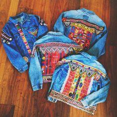 Custom Embellished Denim Jacket Reservation by wildandfreejewelry