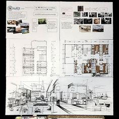 48 Ideas For Design Layout Architecture Presentation Boards Projects Interior Design Presentation, Architecture Presentation Board, Interior Design Courses, Interior Design Sketches, Interior Design Boards, Presentation Boards, Hall Design, Layout Design, Schematic Design