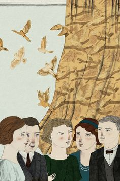 Illustration by Lizzy Stewart for the Folio Society's Mrs. Dalloway. I think this is so perfect.