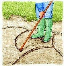 Niveler le sol et tracer le massif