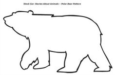 bear template | Polar Bear Pattern - one polar bear on sheet