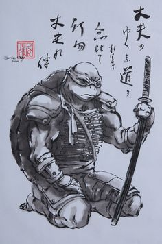Cool artwork @ Tennari by Ted Henry Ninja Turtles Art, Teenage Mutant Ninja Turtles, Tortugas Ninja Leonardo, Leonardo Tmnt, Tmnt 2012, Turtle Love, Martial, Geek Art, Turtles