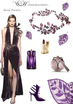 "HERMIONE HARBUTT STYLE BOARDS | Red Carpet Inspirations - ""Deep Purple"" 