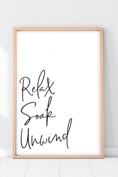 Bathroom Wall Art Relax Soak Unwind Print Bathroom Wall Art Relax Soak Unwind Print Lady Taurus taurusgeminixx HOME SWEET HOME Relax Sign Printable Relax nbsp hellip wall art Bathroom Prints, Bathroom Wall Decor, Bathroom Signs, Bathroom Ideas, Bathroom Organization, Simple Bathroom, Bathroom Renovations, Bathroom Interior, Funny Bathroom