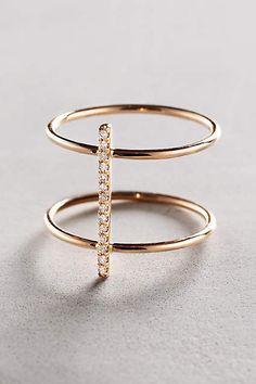 Diamond Cuff Ring in 14k Gold - anthropologie.com #anthroregistry