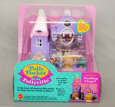Rare HTF 1994 Polly Pocket Pollyville Wedding Chapel Really Lights UP 11190 NRFB | eBay Polly Pocket World, 90s Toys, 90s Nostalgia, Chapel Wedding, Toddler Toys, Miniature Dolls, Toys For Girls, Vintage Toys, Childhood Memories