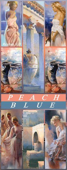 '' Peach & Blue '' by Reyhan S.D.