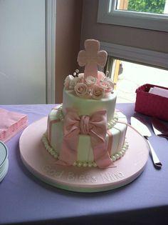 Baptism baby cake @Jenn Robles